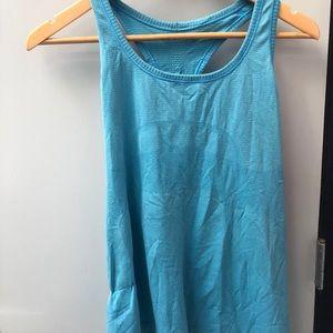 lululemon athletica Tops - Lululemon blue run swiftly tank sz 12